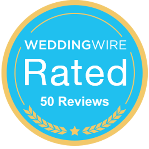 WeddingWire Rated Badge 50 Reviews